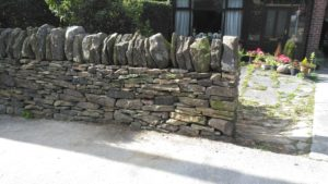 Dry stone wall repair near Longridge