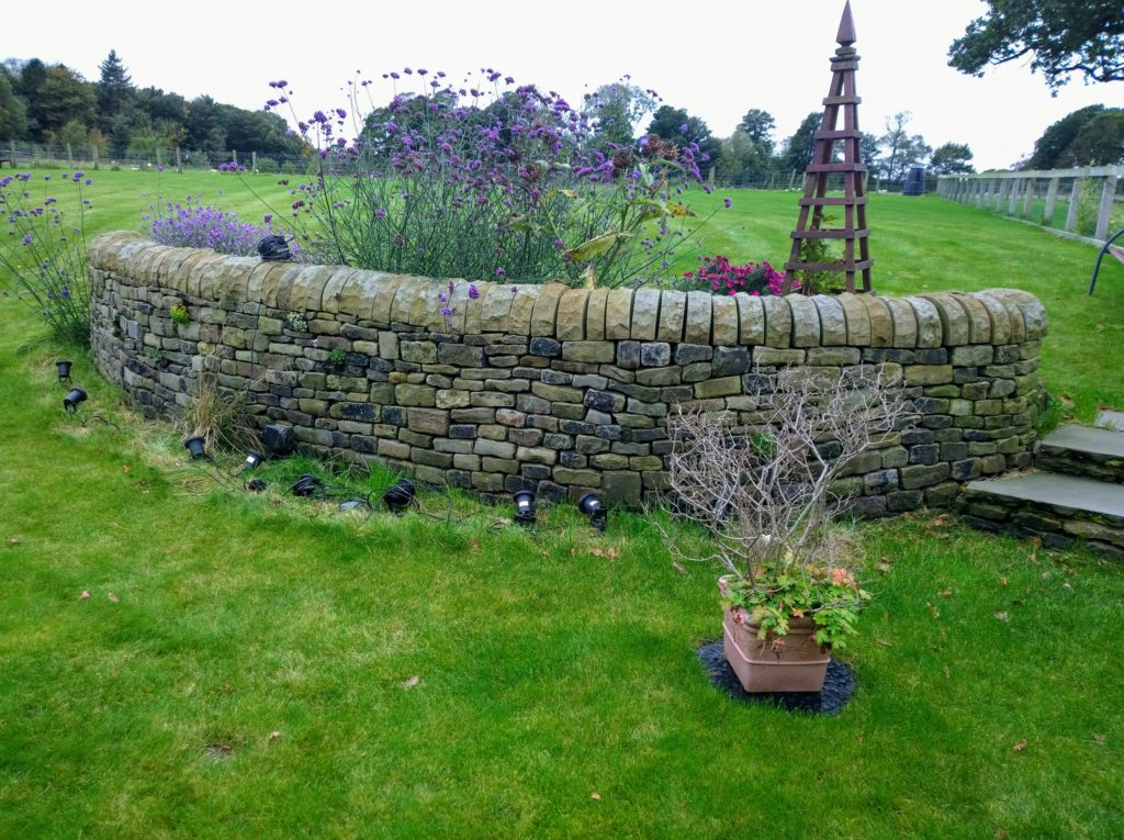 A decorative dry stone wall near Garstang in Lancashire