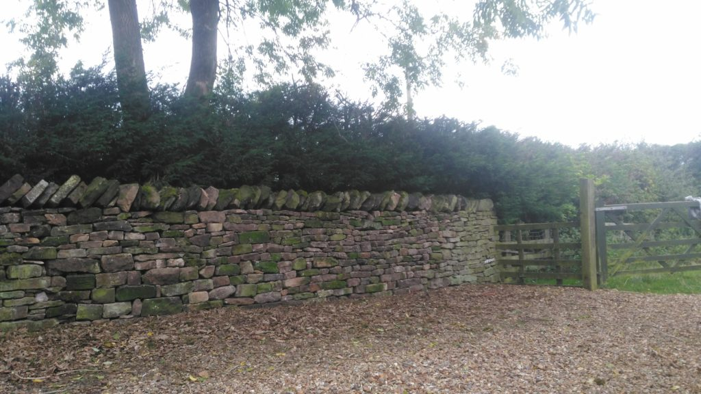 the finished wall near preston autumn 2018