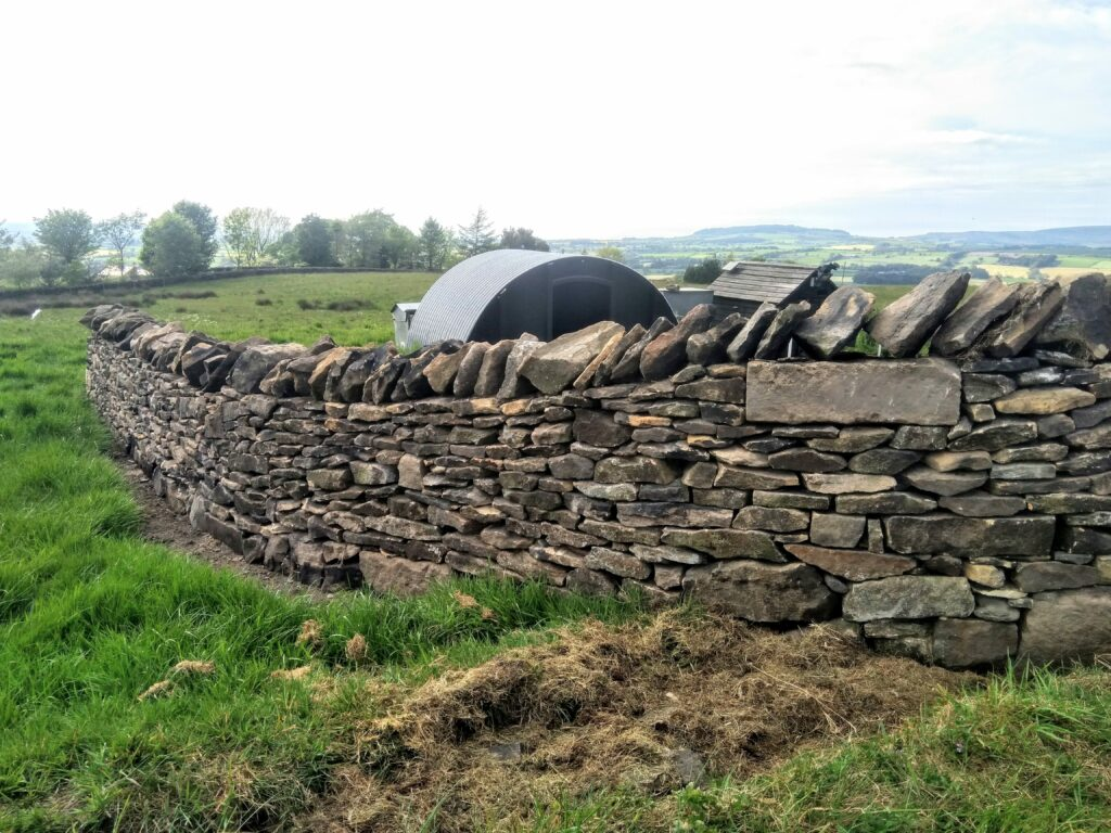 dry stone wall gate entrance  near longridge but overlooking Beacon fell.