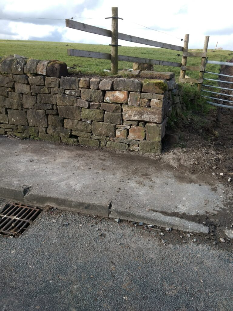dry stone wall in mellor, Blackburn fixed