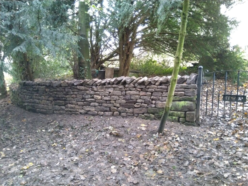 dry stone wall in kirkby lonsdale.