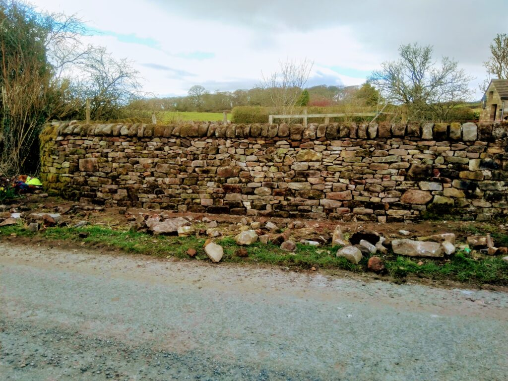 dry stone wall in dolphinholme
