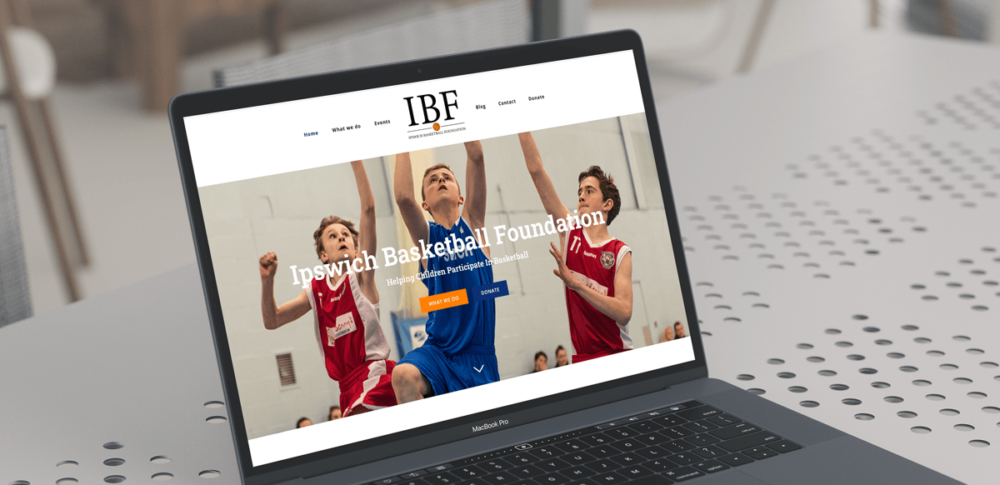 The Ipswich Basketball Foundation Website design case study