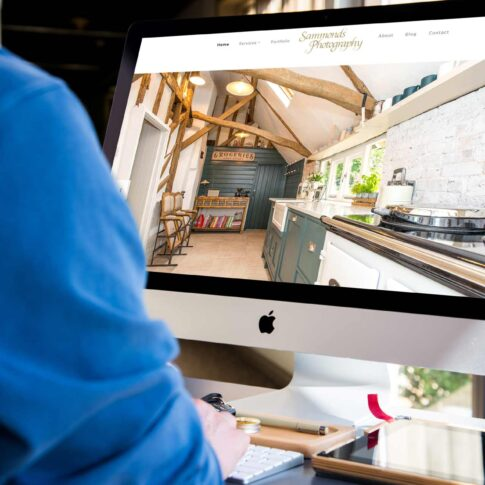 Sammonds Photography website design case study