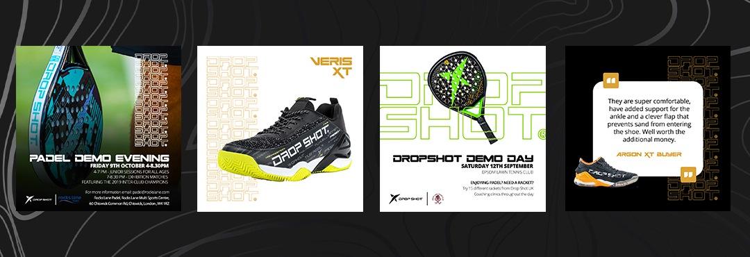 Drop Shot UK social media graphics creation