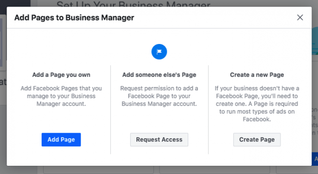 Here is how to add a Facebook page to your Facebook Business Manager account