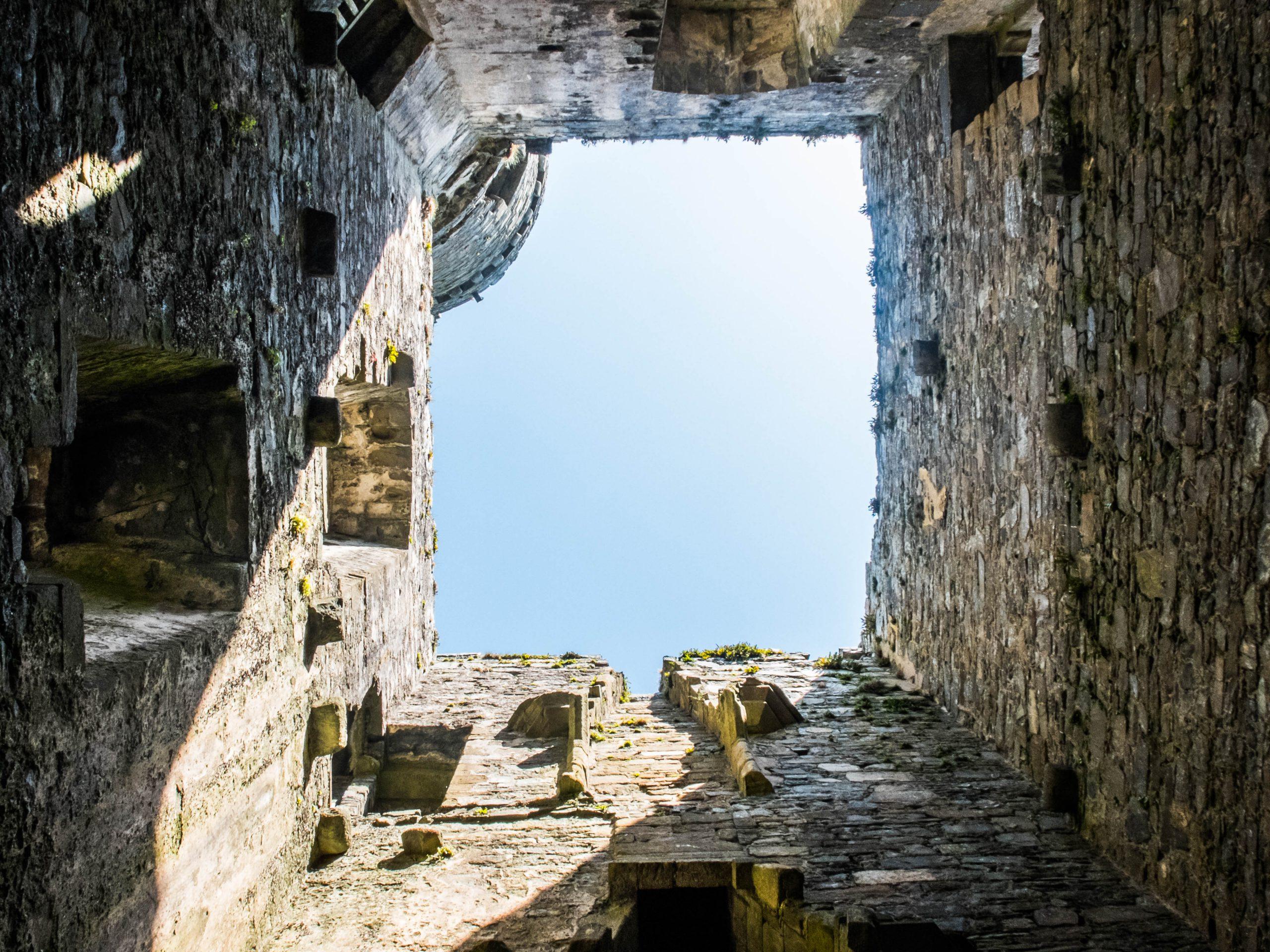 inside Harlech caslte