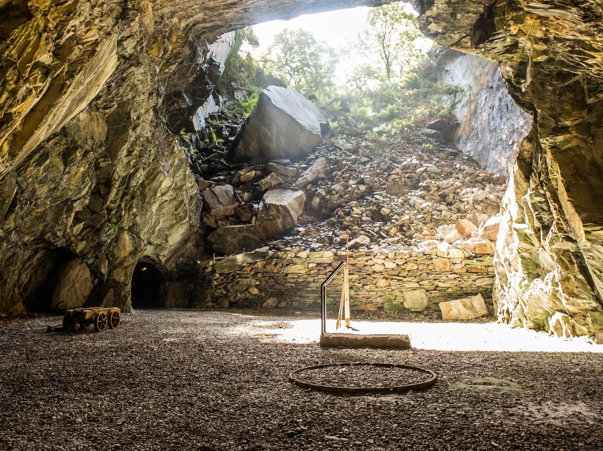 Inside the Llanfair slate caverns