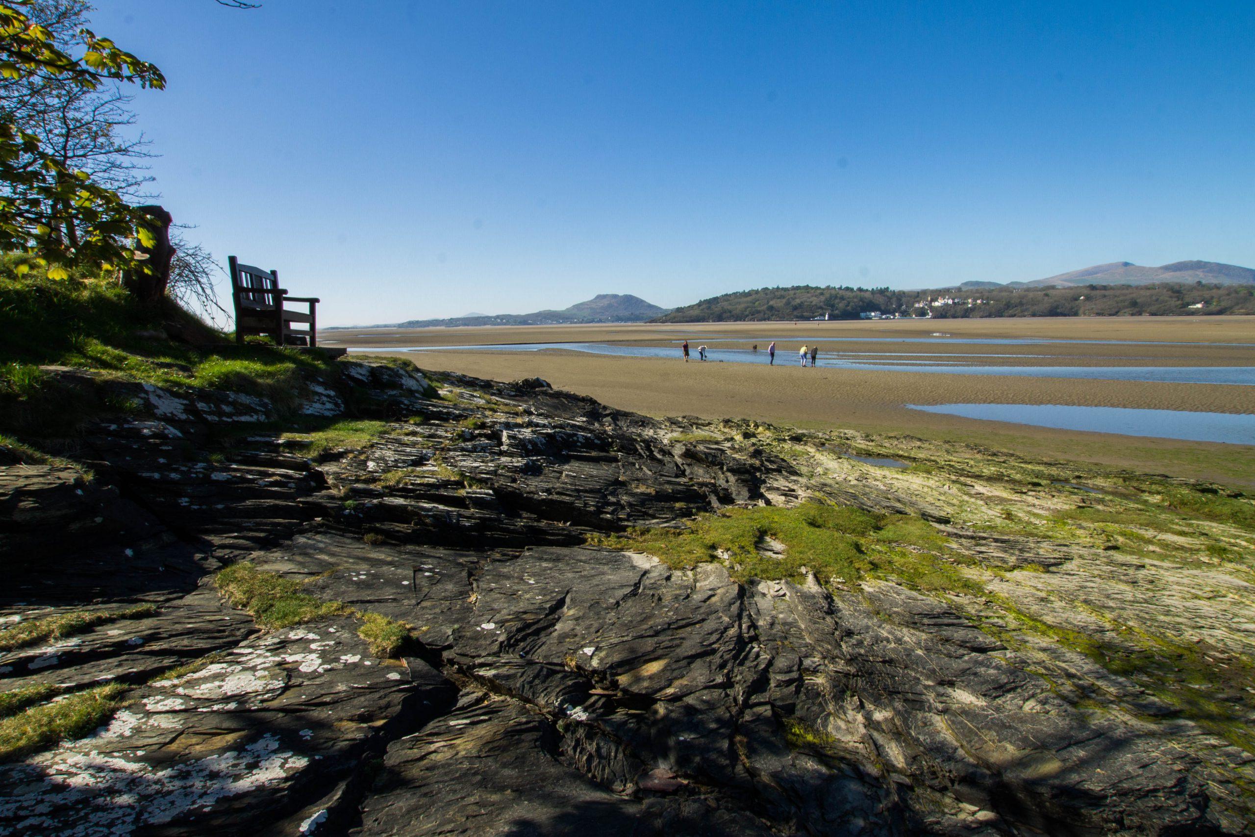 Views toward Portmeirion from the Ynys Estuary