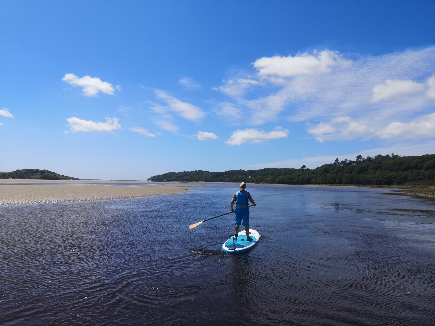 paddleboarding near Portmeirion with Thomo's Outdoor World