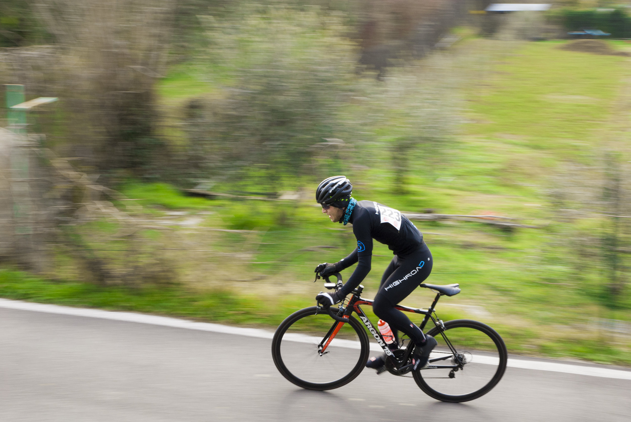 Welsh cycling time trials up the steepest street