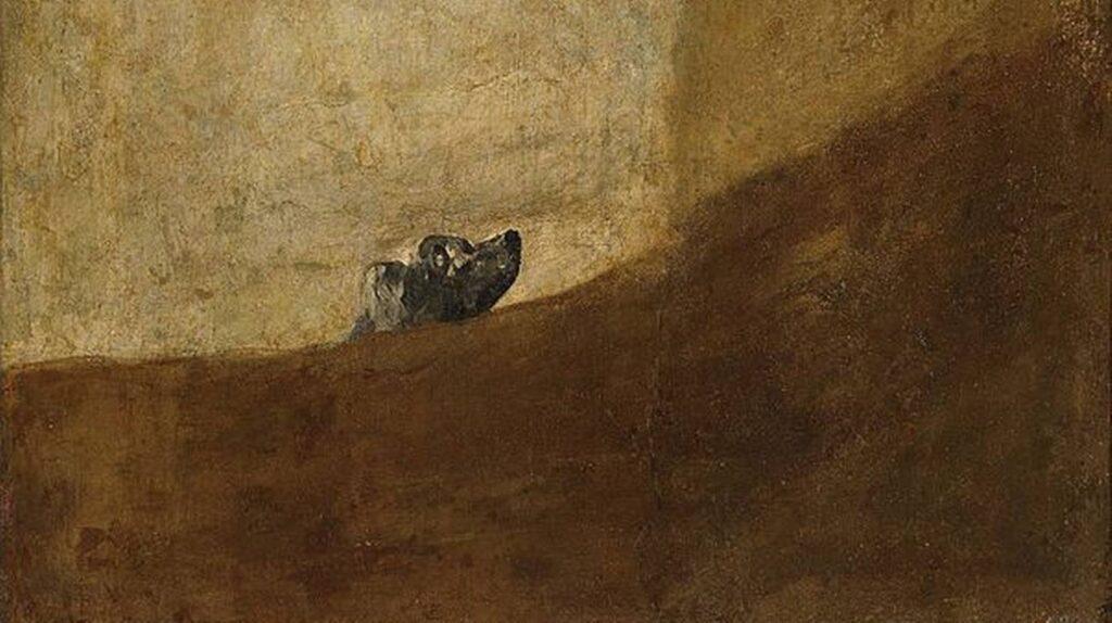 cane interrato nella rena goya fabrizio de andre