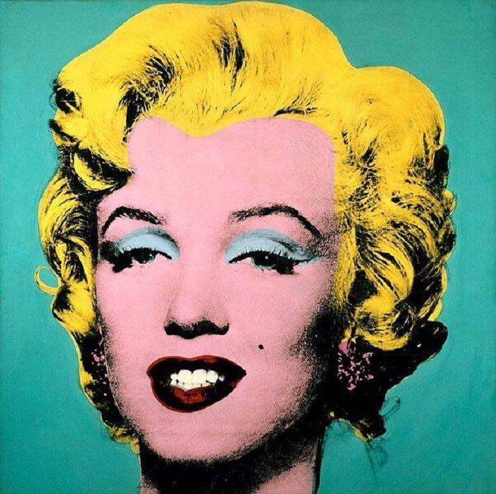 Marilyn Monroe, diva del cinema americano degli anni '60 e musa ispiratrice della PopArt di Andy Warhol 4
