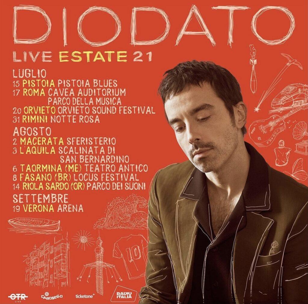 Diodato, 10 appuntamenti a ritrovar bellezza - Live estivi 2021