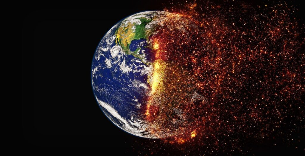 The image shows the effect of climate change. Image by Pete Linforth from Pixabay