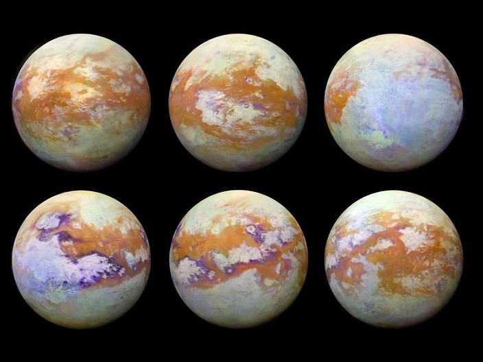 Global Map Of Saturn's Moon, titan moon facts(Image Credits : NASA)