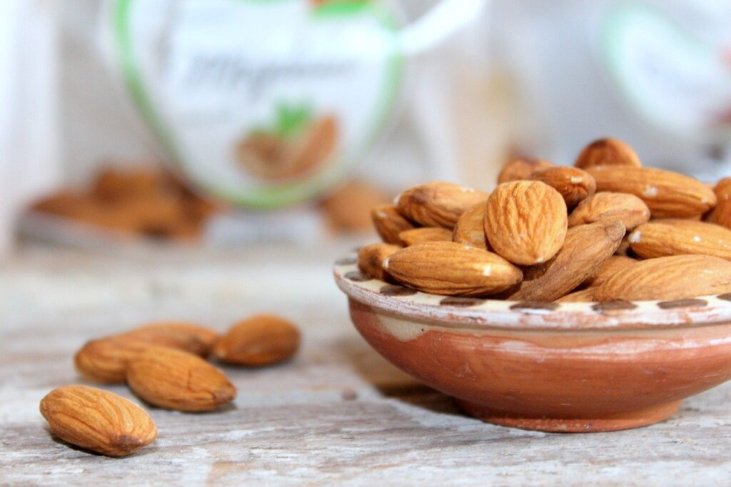 The image represents Almonds.  (Foods that boost immunity.)