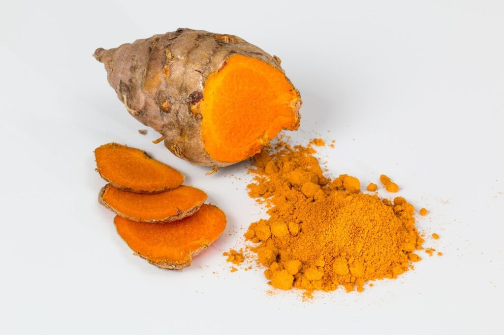 This image shows turmeric.  (Foods that boost immunity.)