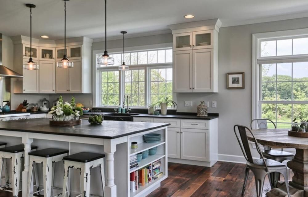 Best Farmhouse Kitchen Island with Open Shelves Furniture