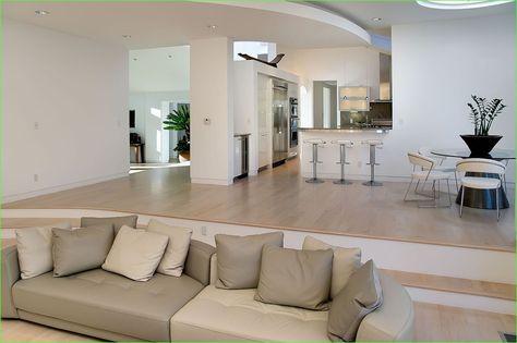 Fresh Modern Split-Level Living Room Design Ideas