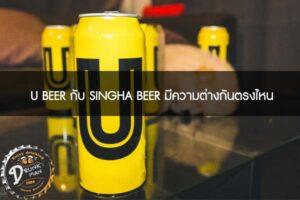 U BEER กับ SINGHA BEER มีความต่างกันตรงไหน #เบียร์คราฟ
