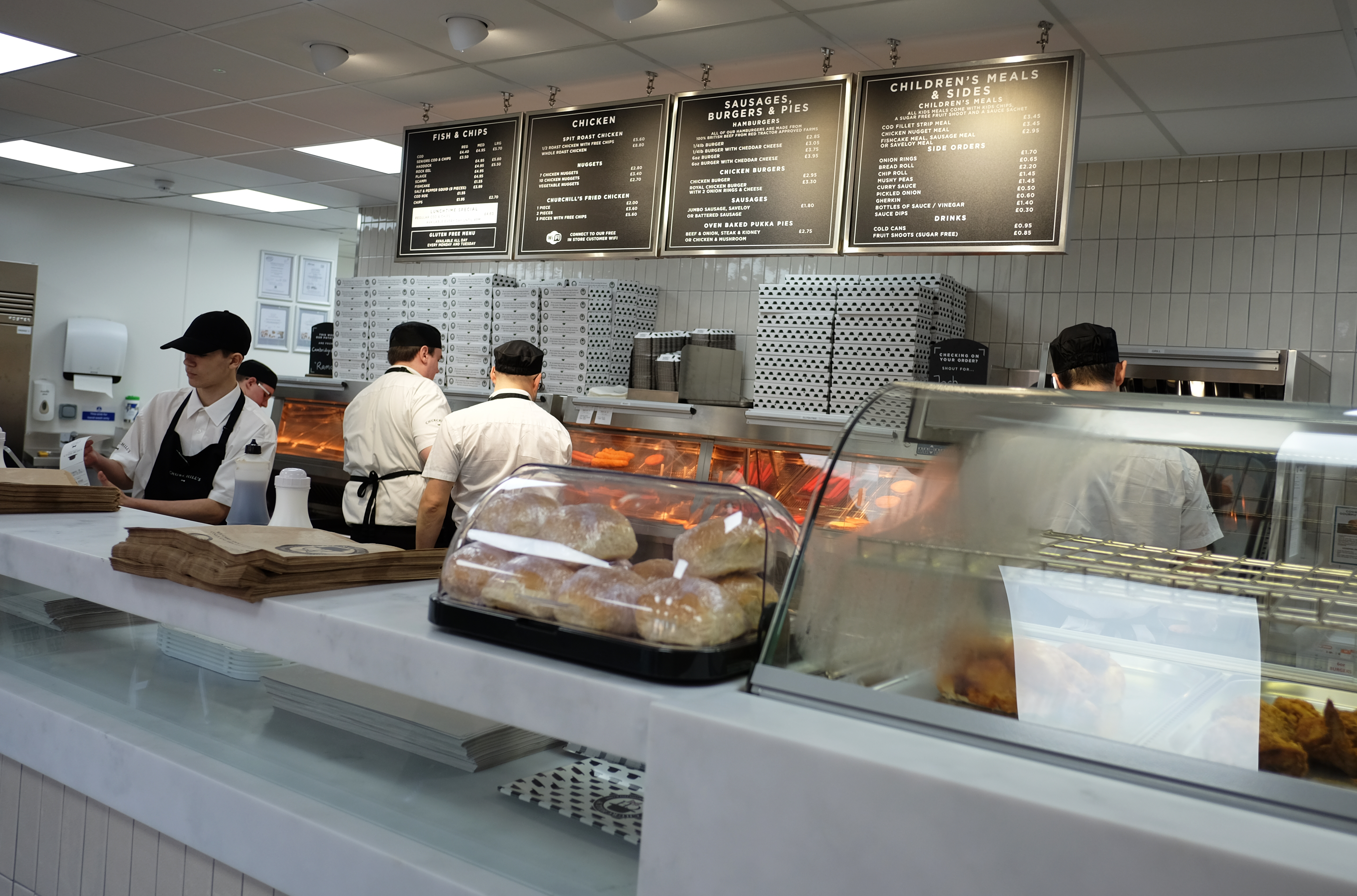 Fish and chip shop offering gluten free menu
