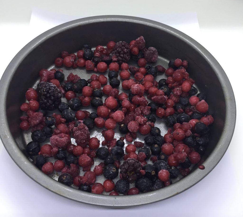 Frozen fruit and honey