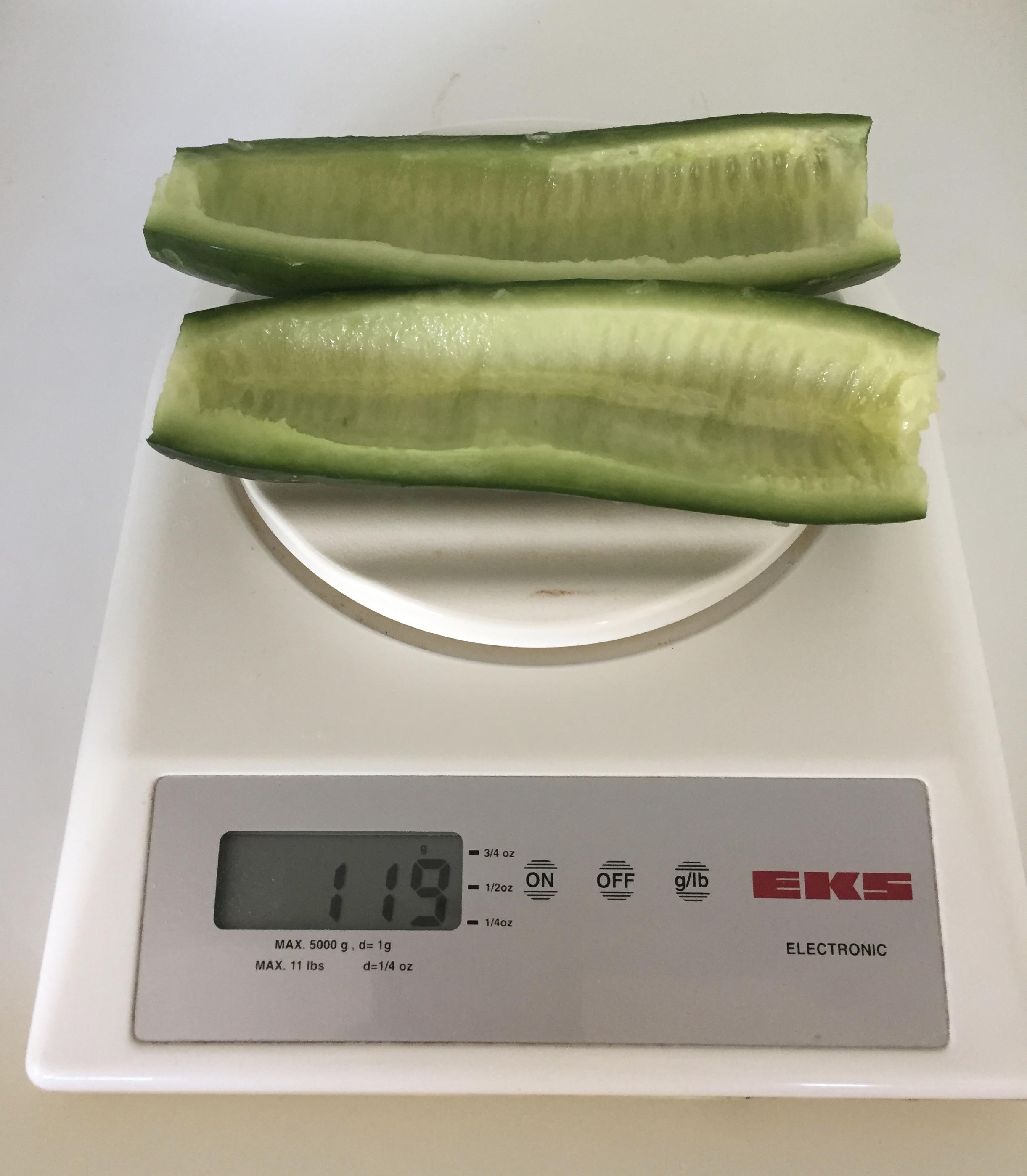 Deseeded cucumber