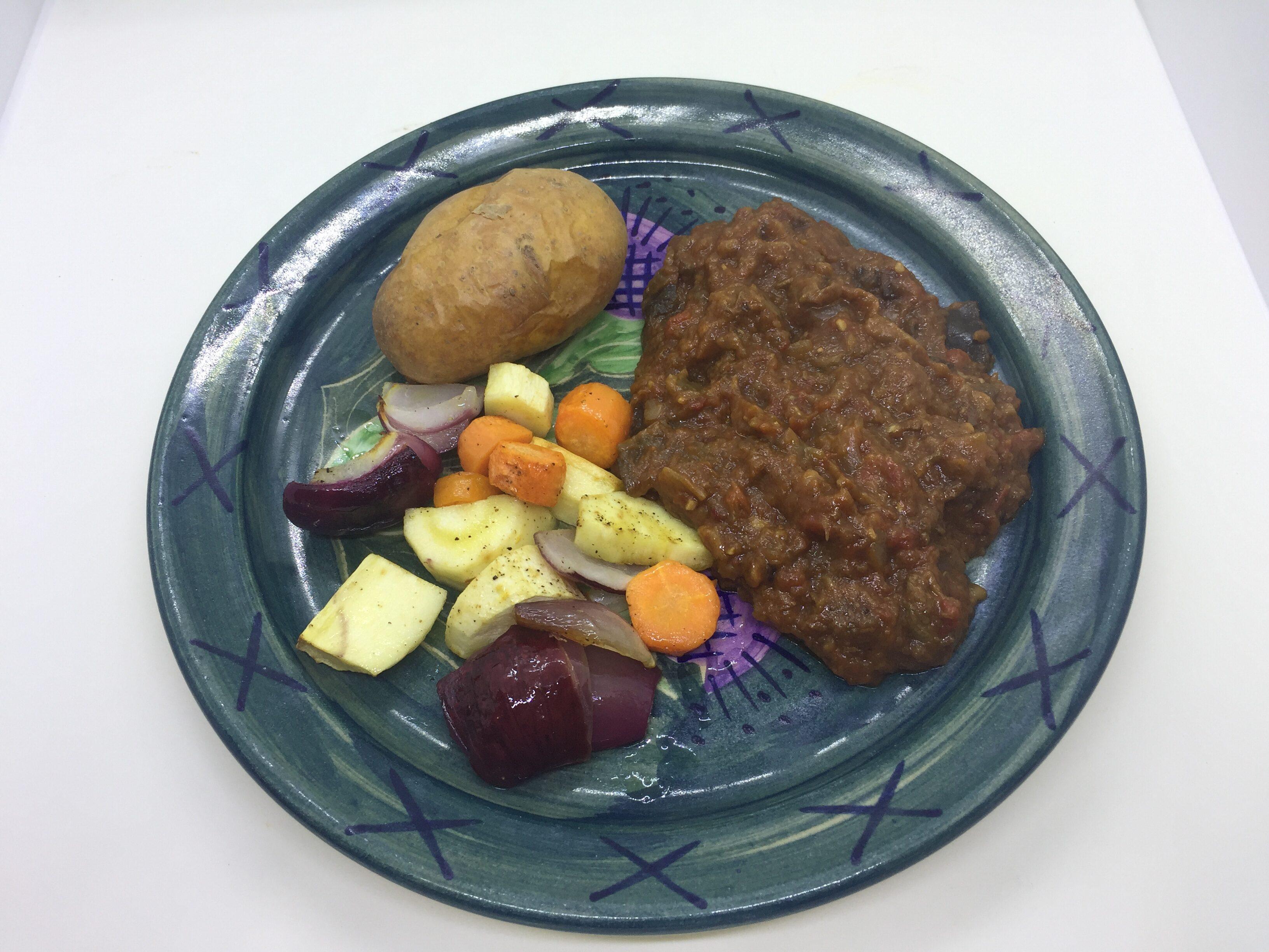 Moroccan beef casserole