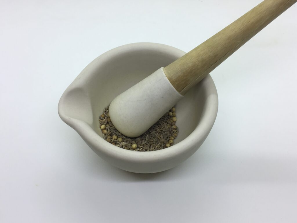 Crush the seeds