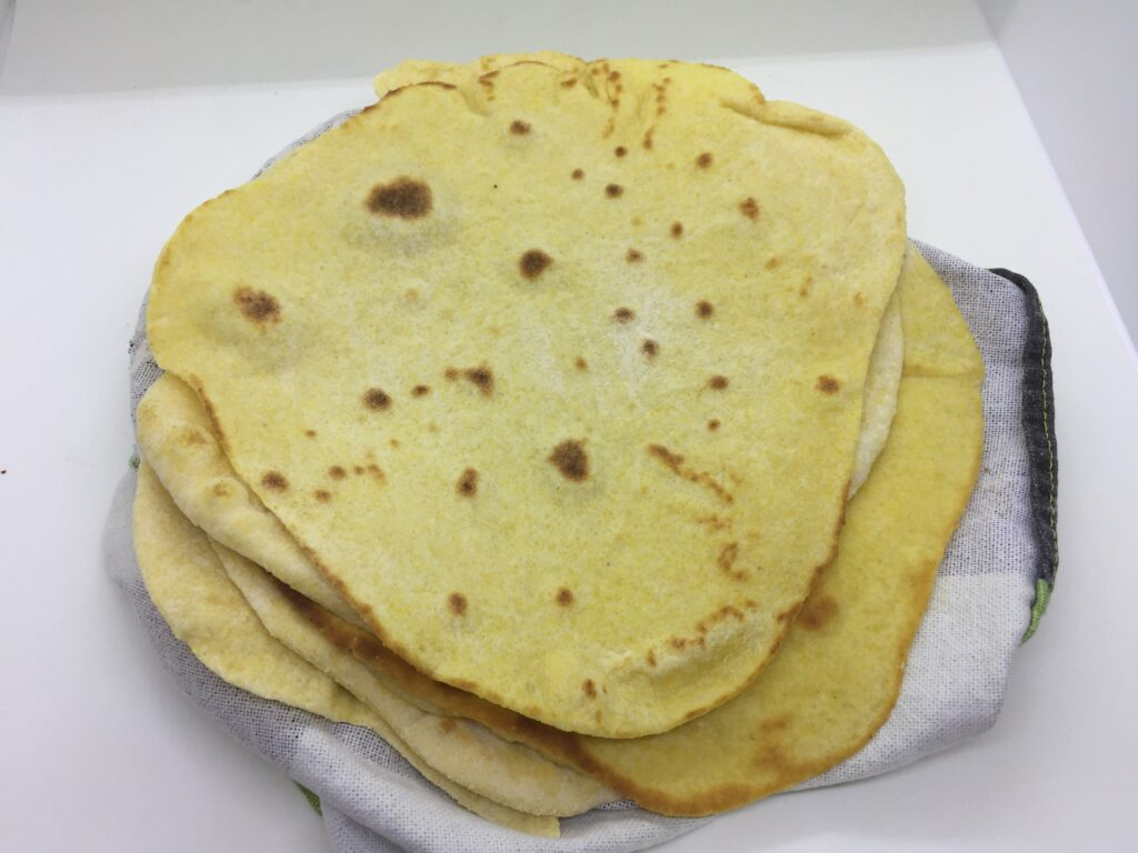 Corn flatbreads