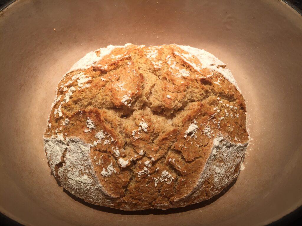 Remove the bread from the casserole dish