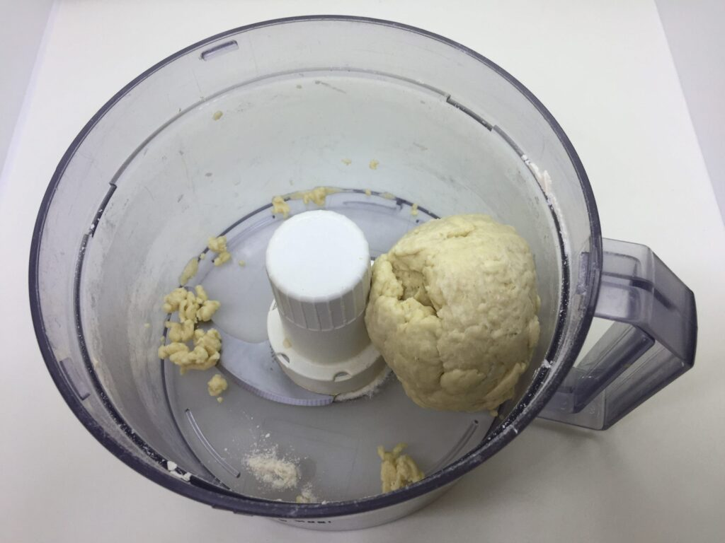 The dough has formed