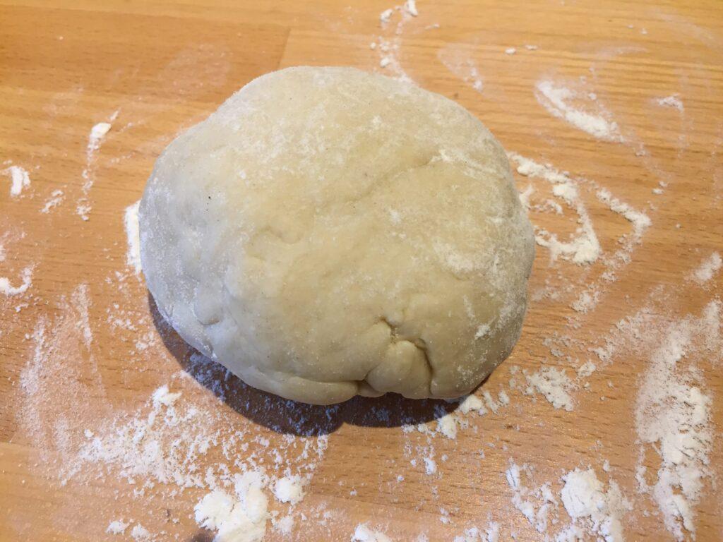 Knead the dough on a floured surface
