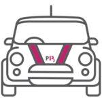 Customised branded car for prospect 13 marketing agency