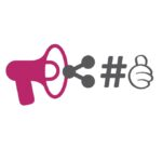 Pink megaphone icon for Prospect 13 Digital marketing services