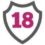 18 inside shield badge