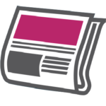 Media PR newspaper Icon for Prospect 13 marketing agency Aberdeen