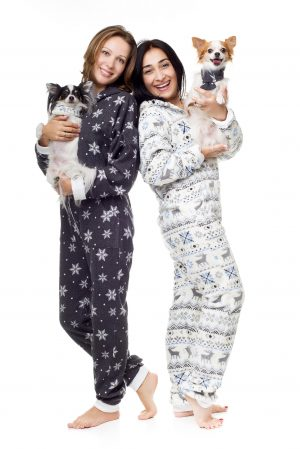 Christmas Kajamaz: Matching Fleece Dog Scarfz