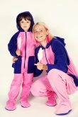 Kajamaz Kidz Moodz Cukraus vata Flisinė pižama kombinezonas vaikams