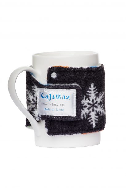 Dog Pawz Snowlfakes Mug Jamz - Fleece Mug Warmer