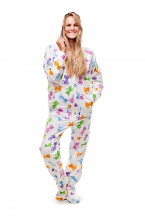 Happy Cats Kajamaz: Footed Pajamas for Adults