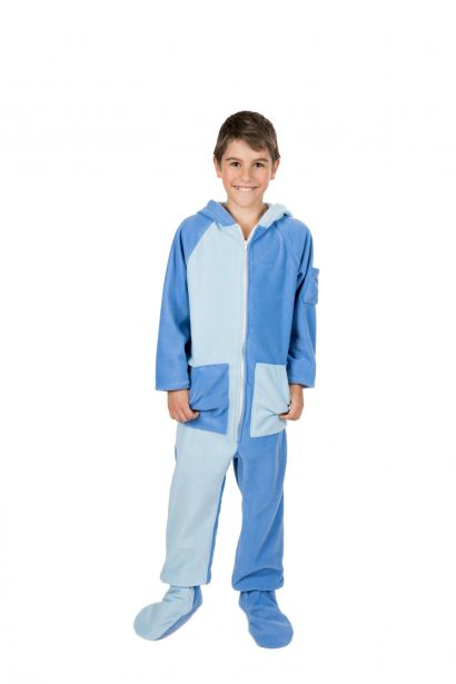 Sky Blues Kajamaz Kidz: Footed Fleece Pajamas For Kids
