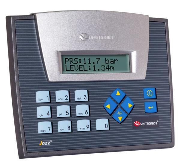 JZ20-T40 Jazz HMI & Keypad, 16 Digital, 2 D/A, 2 Analog Inputs, 20 Transistor Outputs