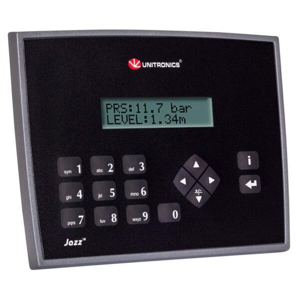 JZ20-J-R16 Jazz HMI & Keypad, 6 Digital Inputs including 2 HSC, 2 Analog/Digital Inputs, 2 Analog Inputs, 6 Relay Outputs