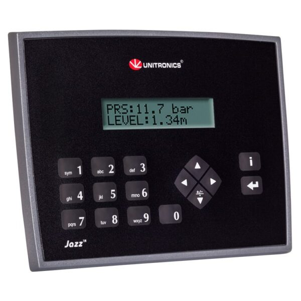 JZ20-J-UA24 Jazz HMI & Keypad, 9 Digital Inputs including one HSC, 2 Analog/Digital inputs, 2 Analog Inputs, 2 PT100/TC
