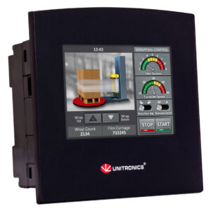SM35-J-R20 Samba 3.5″ Touch Screen PLC & HMI, 10 Digital, 2 D/A Inputs, 8 Relay Outputs