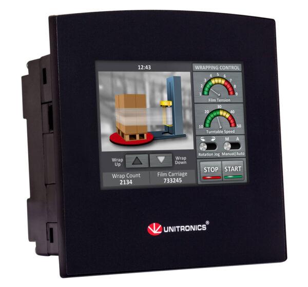 SM35-J-R20 Samba 3.5″ Touch Screen PLC & HMI, 10 Digital, 2 D/A Inputs, 8 Relay Outputs