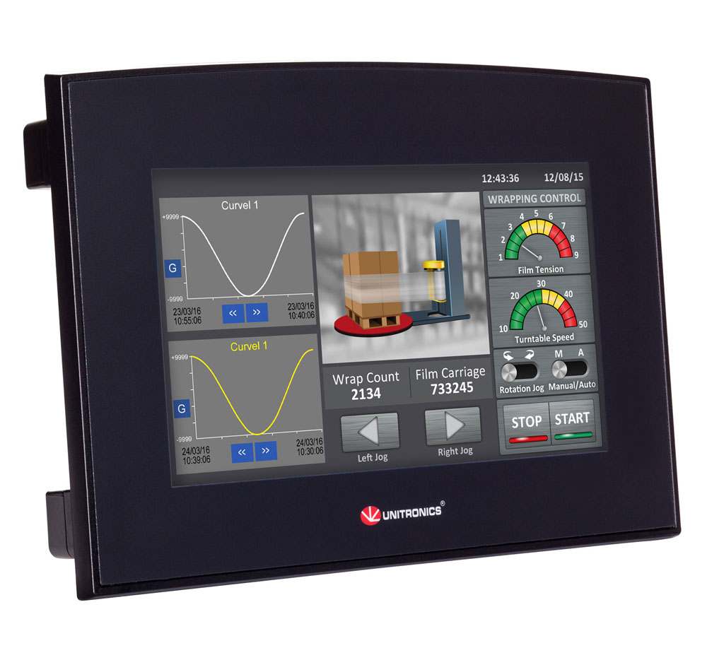 SM70-J-R20 Samba 7.0″ Touch Screen PLC & HMI, 10 Digital, 2 D/A Inputs, 8 Relay Outputs